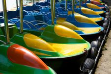 Free Colorful Cruise Boats Stock Image - 34630621