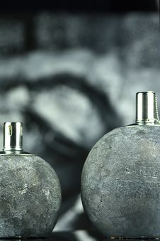 Two Oil Lamps Stock Photos