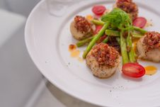 Free Grilled Scallops Royalty Free Stock Photography - 34631867