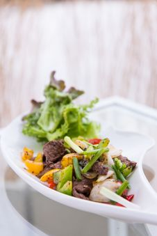 Black Pepper Spicy Beef Royalty Free Stock Photo