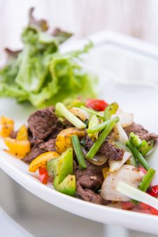 Black Pepper Spicy Beef Royalty Free Stock Photography