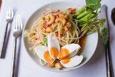 Free Papaya Salad Royalty Free Stock Images - 34632249