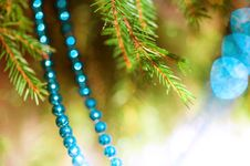 Free Christmas Decoration With Fir Branch Stock Photos - 34632283