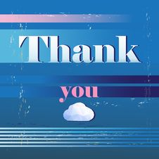 Free Thank You Card , With Font Stock Photos - 34633083