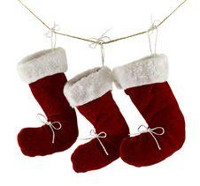 Free Three Santa Boots Isolated Royalty Free Stock Image - 34637546