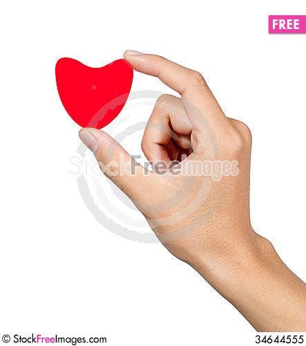 Free Hand Love Royalty Free Stock Photo - 34644555