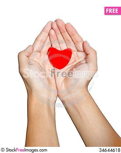 Free Hand Love Royalty Free Stock Photos - 34644618