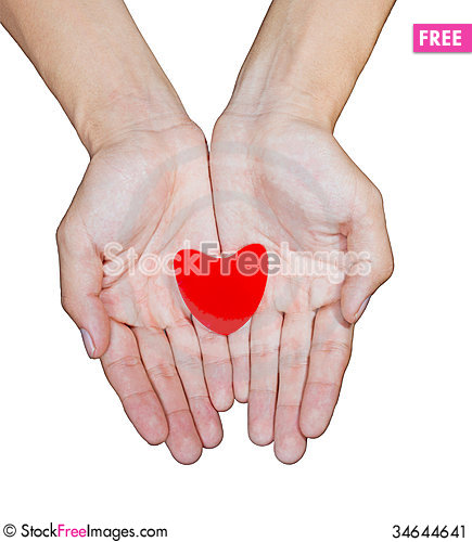 Free Hand Love Stock Image - 34644641