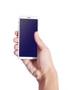 Free Hand Phone Royalty Free Stock Photo - 34644345
