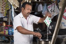 Roadside Tea Vendor Stock Image