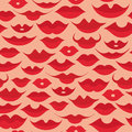 Free Seamless Lips Pattern Stock Images - 34654774