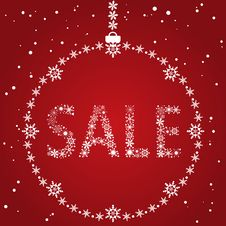 Christmas Sale Design Royalty Free Stock Photos