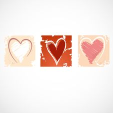Free Grunge Heart Background. Royalty Free Stock Images - 34654129