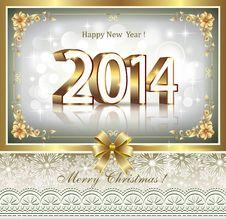 Free Christmas Greeting Card 2014 Royalty Free Stock Image - 34654146
