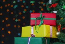 Free Few Gifts Royalty Free Stock Photo - 34655355
