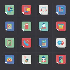 Free Communication Icons Royalty Free Stock Photo - 34655725