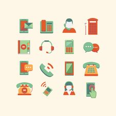 Free Communication Icons Stock Image - 34655761