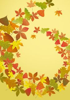 Free Abstract Autumn Background. Royalty Free Stock Photography - 34656537