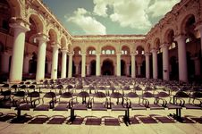 Outdoors Concert Hall With Ancient Columns Stock Images