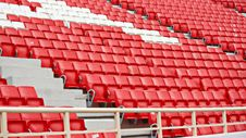 Free Chairs In The Stadium Royalty Free Stock Image - 34657536