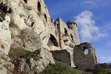 Castle Ruins In Ogrodziencu Stock Image