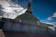Free Buddhist Shrine Boudhanath Stupa. Nepal, Kathmandu Royalty Free Stock Image - 34659286
