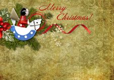 Free Vintage Christmas  Postcard Royalty Free Stock Photo - 34659395