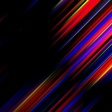 Striped Abstract Design On Dark Background. Stock Images