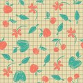 Free Seamless Pattern Sketch With Fruit And Berries Royalty Free Stock Photo - 34665625