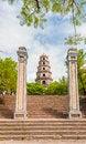 Free Thien Mu Pagoda, Hue, Vietnam. Unesco World Heritage Site. Royalty Free Stock Photos - 34666078