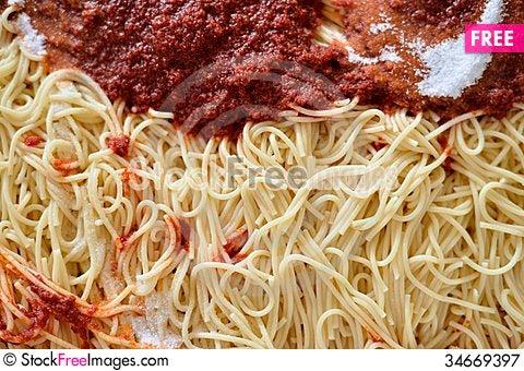 Free Spaghetti Royalty Free Stock Photography - 34669397