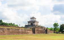Watchtower On The Wall At Imperial City Of Hue Royalty Free Stock Photography