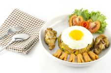Free American Fried Rice  On White Stock Photography - 34664802