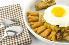 American Fried Rice  On White Royalty Free Stock Photos