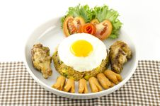 American Fried Rice  On White Stock Photos