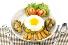 Free American Fried Rice  On White Stock Photography - 34665582