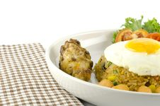 Free American Fried Rice Isolated On White Stock Photography - 34665792
