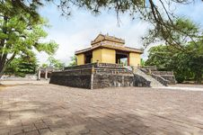 The Bi Dinh - Stele Pavilion - In Minh Mang's Royal Tomb Stock Images