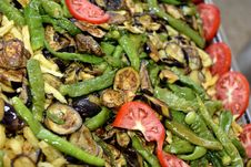 Free Mediterranean Vegetables Cooking Royalty Free Stock Photography - 34669077