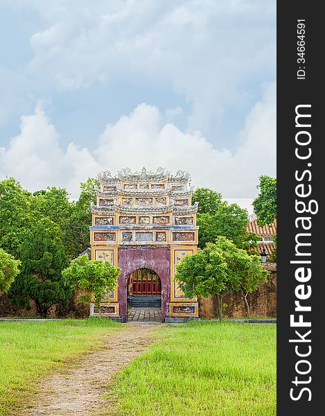 Ancient gate in Citadel of Hue Imperial City