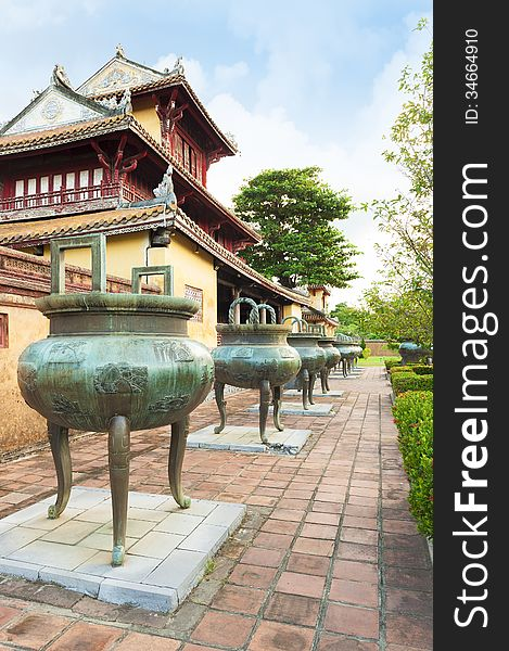 Dynasty Dings  or Urns in Imperial City of Hue