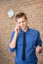 Free Young Businessman Talking On Phone. Stock Photo - 34678400