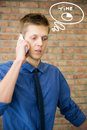 Free Young Businessman Talking On Phone. Royalty Free Stock Photo - 34678405