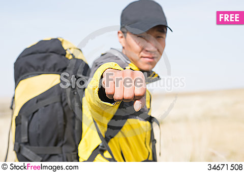 Free Hikers Fist Royalty Free Stock Photos - 34671508