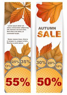 Free Autumn Sale. Stock Image - 34671161