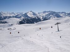 Wintersports On The Alps In Austria Royalty Free Stock Photo