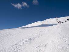 Wintersports On The Alps Stock Photos