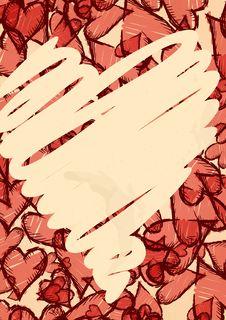 Free Grunge Heart Background. Royalty Free Stock Image - 34671946