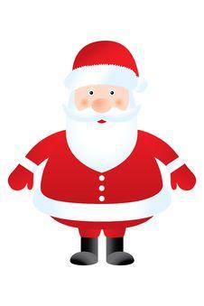 Free Santa Claus On White Background Royalty Free Stock Photo - 34674905