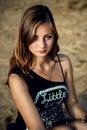 Free Beauty Portrait Of Girl On Beach Stock Photo - 34682290